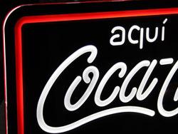 Luminoso Cocacola neón